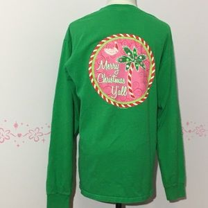 "Tops - Southern ""Merry Christmas Y'all"" Shirt"